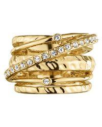 Dyrberg/Kern - Metallic Wendolyn Gold Plated Swarovski Crystal Cocktail Ring - Lyst