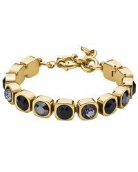 Dyrberg/Kern | Metallic Dyrberg/kern Cone Swarovski Crystal Tennis Bracelet | Lyst