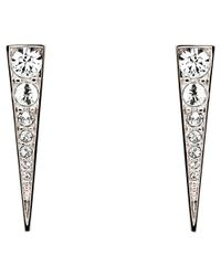 Melissa Odabash   Metallic Swarovski Crystal Arrow Drop Earrings   Lyst