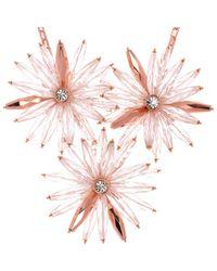 Ted Baker | Pink Petunea Flower Starburst Necklace | Lyst