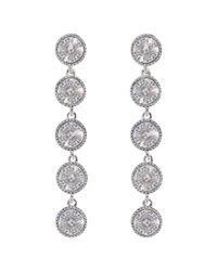 Ted Baker | Metallic Rizza Drop Crystal Earrings | Lyst