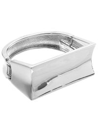John Lewis | Metallic Large Rectangle Bangle | Lyst