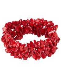 John Lewis - Red Quartz Beaded Stretch Bracelet - Lyst
