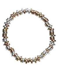 John Lewis | Multicolor Tri Tone Flat Bead Stretch Bracelet | Lyst