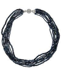 John Lewis | Blue Short Sparkle Layered Collar Necklace | Lyst
