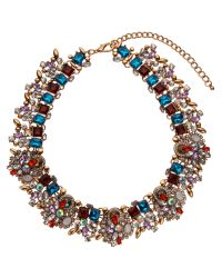 John Lewis - Multicolor Statement Glass Stone Collar Necklace - Lyst