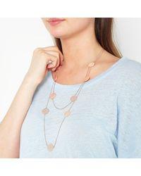 John Lewis - Metallic Leaf Layered Chain Necklace - Lyst