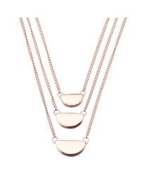John Lewis - Metallic Three Layered Chain Necklace - Lyst