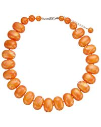 John Lewis - Orange Potato Bead Statement Necklace - Lyst