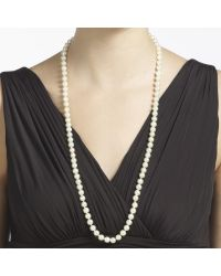John Lewis - White Long Faux Pearl Necklace - Lyst