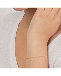 Dogeared - Metallic 14ct Gold Plated Sterling Silver Love Letter Chain Bracelet - Lyst