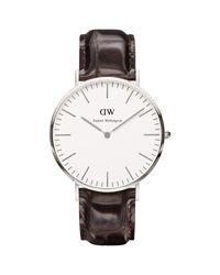 Daniel Wellington | Brown 0211dw Men's Classic York Leather Strap Watch for Men | Lyst