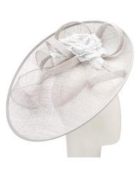 John lewis riya side up silk flower occasion hat in metallic lyst john lewis mightylinksfo