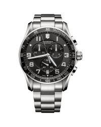 Victorinox | Metallic 241650 Men's Classic Xls Chronograph Bracelet Strap Watch for Men | Lyst