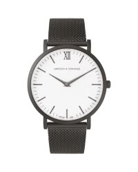 Larsson & Jennings - Black Lugano 40mm Watch Anthracite Milanese/white - Lyst