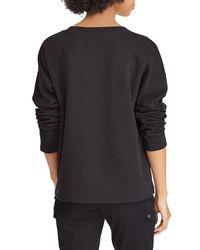 Ralph Lauren - Black Lauren Logo Embroidered Sweatshirt - Lyst