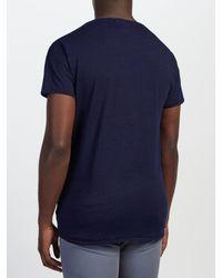 Scotch & Soda - Blue Garment Dyed Tee Slub Jersey T-shirt for Men - Lyst