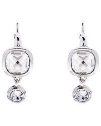 Karen Millen - Metallic Milano Swarovski Crystal Double Drop Earrings - Lyst