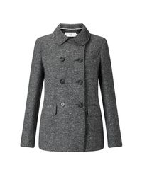 John Lewis - Gray Double Breasted Pea Coat - Lyst