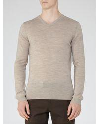 Reiss - Multicolor Emporer Merino Wool V-neck Jumper for Men - Lyst