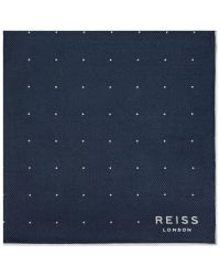 Reiss | Blue Planet Micro Dot Silk Pocket Square for Men | Lyst