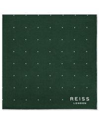 Reiss | Green Planet Micro Dot Silk Pocket Square for Men | Lyst