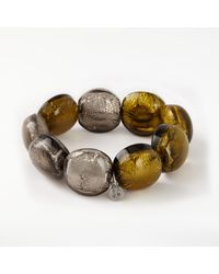 One Button - Metallic Bead Chunky Bead Bracelet - Lyst