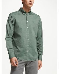 991a9db8d2f GANT Heather Long Sleeve Oxford Shirt in Green for Men - Lyst