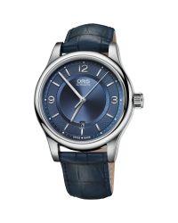 Oris - Blue 01 733 7594 4035-07 5 20 85 Men's Classic Date Leather Strap Watch for Men - Lyst