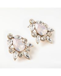 John Lewis - Multicolor Glass Crystal Cluster Stud Earrings - Lyst