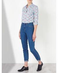 John Lewis - Blue Poppy Print Shirt - Lyst
