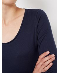 John Lewis - Blue Long Sleeve Scoop Neck T-shirt - Lyst