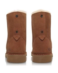 Ugg - Brown Quincy Lace Up Ankle Boots - Lyst