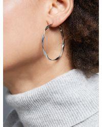 John Lewis - Metallic Twist Hoop Earrings - Lyst