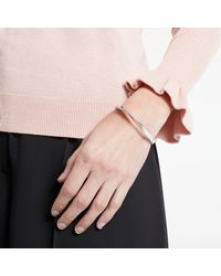 Kate Spade - Metallic Glass Crystal Pave Asymmetric Hinge Bangle - Lyst