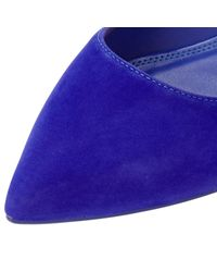 Dune | Blue Aeron Pointed Toe Ballet Pumps | Lyst
