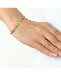 John Lewis - Metallic Ibb 9ct Yellow Gold Hollow Diamond-cut Rope Bracelet - Lyst