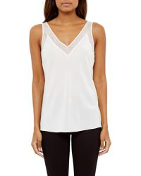 Ted Baker - White Leiaa Silk Mesh Top - Lyst