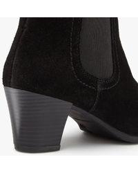 John Lewis - Black Faith Block Heeled Ankle Chelsea Boots - Lyst