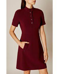 Karen Millen - Tailored Crepe Dress - Lyst