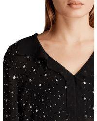AllSaints | Black Shalien Star Shirt | Lyst