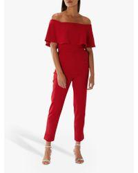 Coast - Red Harlem Jumpsuit - Lyst