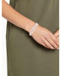 John Lewis - Pink Fine Faux Pearl Stretch Bracelet - Lyst