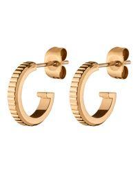 Dyrberg/Kern | Metallic Dyrberg/kern Small Stud Hoop Earrings | Lyst