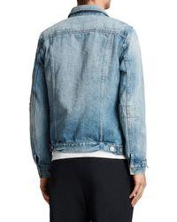 AllSaints - Blue Dustout Denim Jacket for Men - Lyst