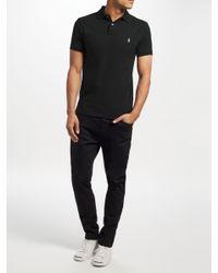 Ralph Lauren - Black Polo Short Sleeve Slim Fit Polo Shirt for Men - Lyst