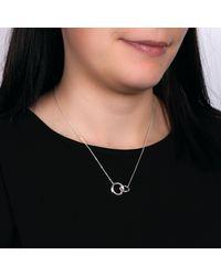Kit Heath - Metallic Bevel Curve Interlink Ring Pendant Necklace - Lyst