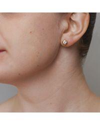 John Lewis - Metallic Dower & Hall 18ct Vermeil Topaz Stud Earrings - Lyst