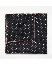 Paul Smith - Black Polka Dot Silk Pocket Square for Men - Lyst