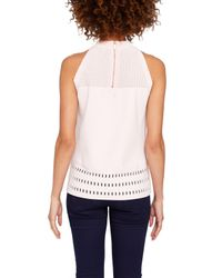 Ted Baker - Pink Georji Ottoman Knitted Top - Lyst